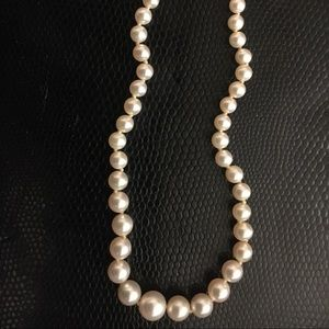 Pearl Necklace with Pearl Adorned Clasp